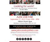 FREE: Ajax  Job Fair – Thursday, September 7th, 2017