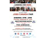 Oshawa Job Fair - September 6, 2018 from 1 PM to 4 PM