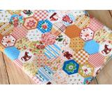 Floral & Cartoon Patchwork Cotton Fabric