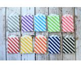 small DIAGONAL STRIPE Itty Bitty party treat Bags