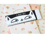 Cute Wooden Cartoon Cat Ruler