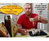 Pension solution with mushroom coffee