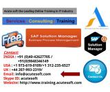 SAP SOLUTIONS MANAGER Online Training with Project Senarioes-AcuteSoft
