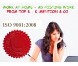 Simple Homebased ads posting work call 9898665104 - Kolkata