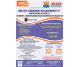 One day workshop on raspberry pi at Arjun College of technology