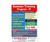 Summer IT Training program for Middle and High Schools Students