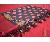 pure organza saree