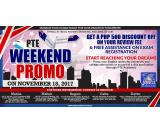 PTE ACADEMIC WEEKEND PROMO – November 18, 2017