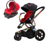 Quinny Britto Moodd Stroller Travel System W Mico Car Seat Red