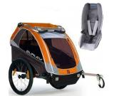 Burley - D-Lite Trailer with Baby Snuggler Kit - Orange